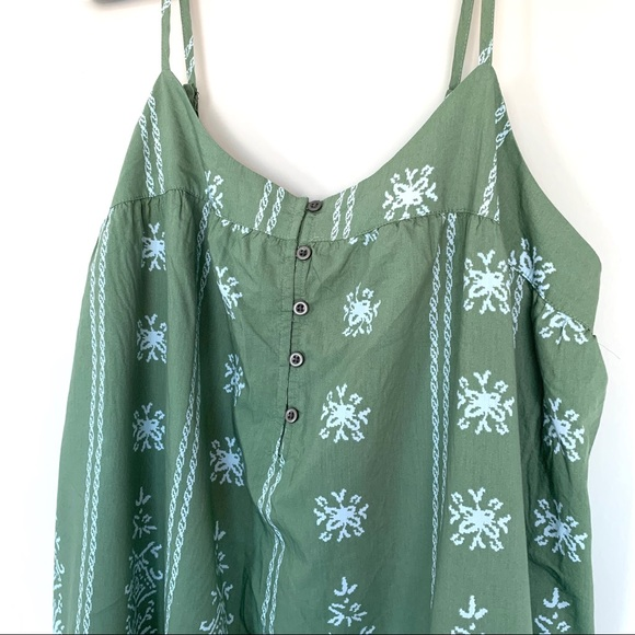 NWT Lucky Brand Boho Dress Size L RN# 80318 Green